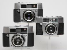 3 Agfa 35 mm photo cameras