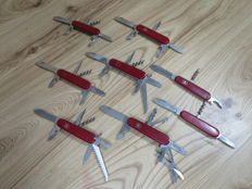 A Collection of 8 Swiss Victorinox Pocket knives