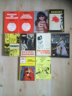 BDSM; Lot with 10 various Dutch sex books-1960/1973