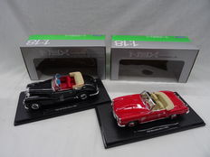 Welly/Nex - Scale 1/18 - Mercedes 300S Cabriolet 1955 & Mercedes 190SL 1955