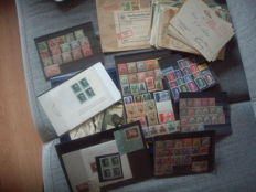 German Reich and areas – Batch incl. blocks, letters and propaganda items