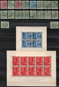 The Netherlands 1940/1942 - Trail stamps and Legion blocks - NVPH 356/373 + 402B/403B