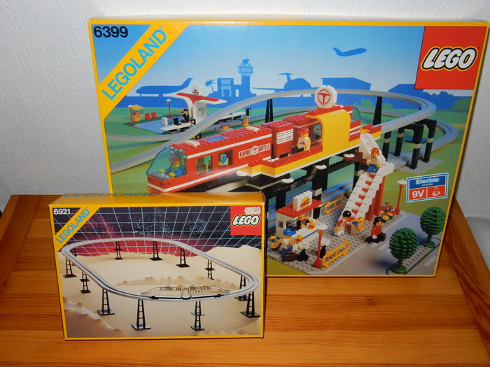 Classic Town 6399 6921 Airport Shuttle Monorail Accessory