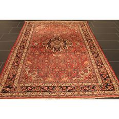 Persian carpet Malayar 210 x 160 cm, made in Iran, old rug, collector's piece, carpet