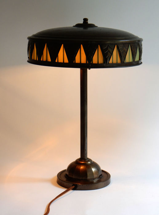 Art Nouveau Table Lamp With Original Interior Lining Catawiki