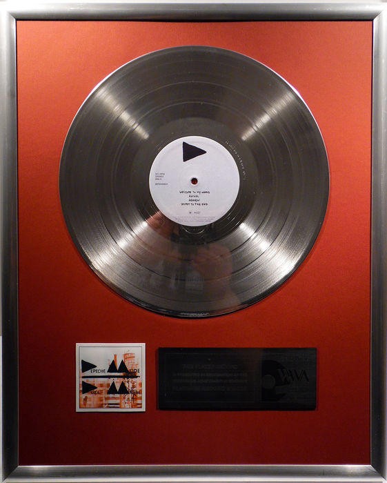 "Depeche Mode - Delta Machine - 12"" German Mute platinum plated record by WWA Awards"