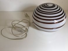 Design table lamp, glass with swirl