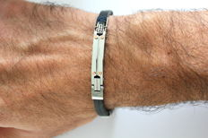 Hub One Bracelet - Length: 21 cm - Gold and Steel Collection