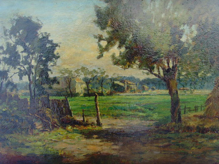 Unknown artist (copy after Hugo Darnaut 1851-1937) - Rural property