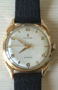 Men's Swiss Juvenia watch in 18 kt gold, from the 1960s.