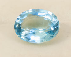 Topaz sky blue - 7,33  ct - No Reserve Price