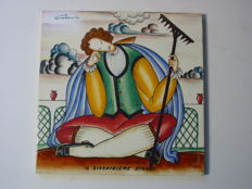 Gio Ponti for Richard Ginori - Il Giardiniere Stanco - Ceramic tile