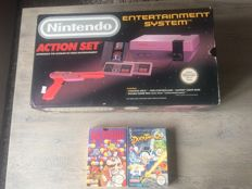 Nintendo Action set with 3 games.- Duck Tales 2 and dr. Mario