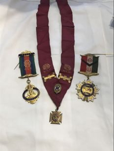Collection of 3 Masonic medals rare items stamped Egypt and Iraq