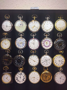 20 beautiful pocket watches on a suspension frame