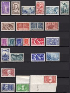 France 1936 – Complete year – Yvert No. 309/333