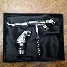 Original Jaguar corkscrew and bottle stopper