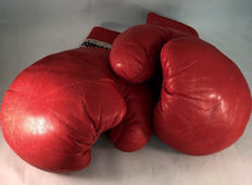 Boxing - Red leather boxing gloves - last century.