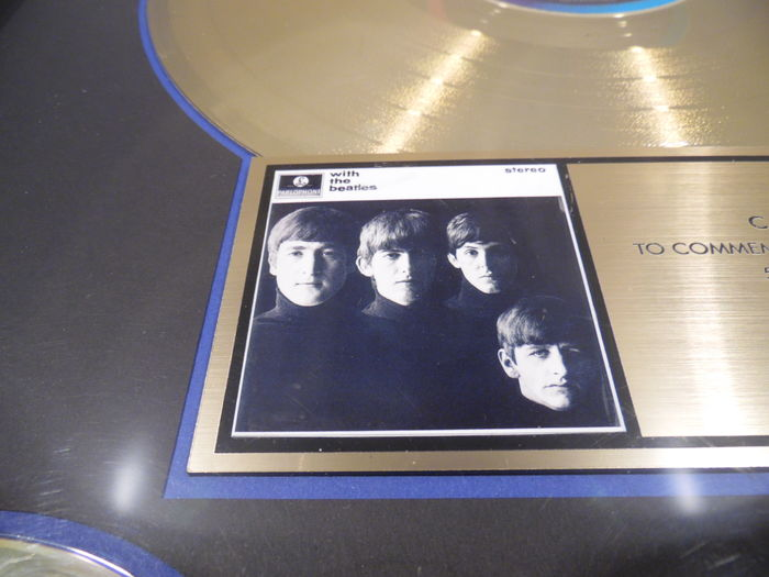 the beatles with the beatles us riaa gold award goldene. Black Bedroom Furniture Sets. Home Design Ideas