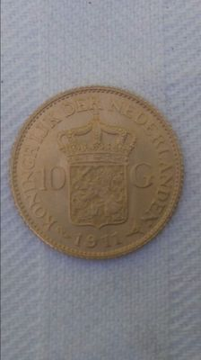 The Netherlands – 10 guilder coin 1911 Wilhelmina – gold
