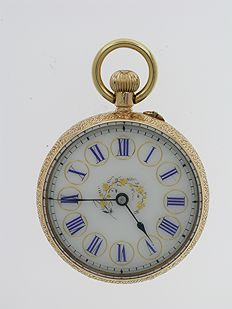 Open face FOB  pocket watch Swiss 1900