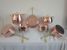 Tagus - Made in Portugal - 9 piece copper cookware set