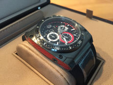 Savoy Extreme Carbon - 43 mm - Swiss made limited edition (limited to 200) - gun metal ion plated with red carbon on the sides of the casing - original retail price: €1,300