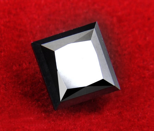 Black Diamond Princess Cut 4.160 ct No Reserved Price