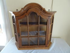 Wooden display cabinet with glass panes, second half 20th century, the Netherlands