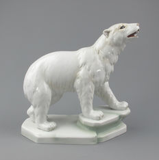 Roschütz - Art Deco porcelain figure of a polar bear