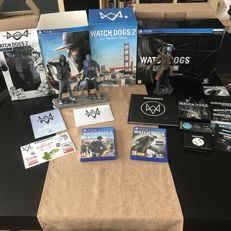 PS4 Watchdogs Dedsec edition,Watchdogs 2 SAN Fransisco edition And Wrench Statue!