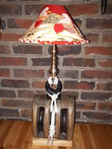 Lantern on a triple ship pulley H.66cm