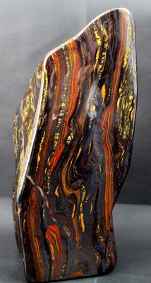 Large and colourful Tiger's Eye tumble - 158 x 76 x 63mm - 1758gm