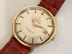 Omega Constellation Pie Pan gold/steel - men's watch - circa 1965