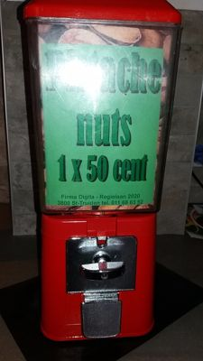 Pistachio, peanut or gumball machine 1970s, Original BRABO ANTWERP