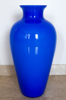 Salviati (glassworks Salviati Murano) - Jacketed vase (52 cm)