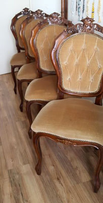 Baroque/Classic. Four dining chairs, second half of 20th century,