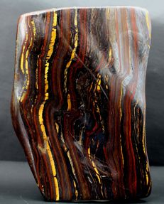 Large and colourful Tiger's Eye tumble - 146 x 97 x 50mm - 1404gm