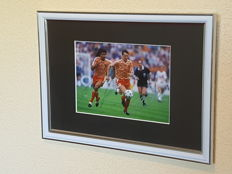 Marco van Basten and Ruud Gullit - beautiful framed photo final European Championship 88 - original signed by both + COA.