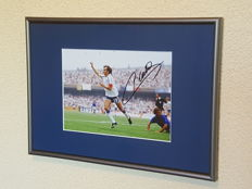 Michel Platini - Original autographed framed photo France + COA