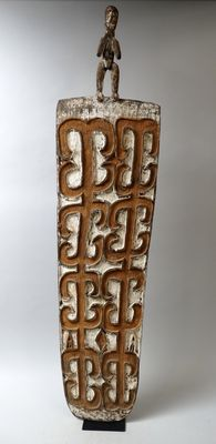 Perfect old Headhunting shield - Asmat - West-Papua
