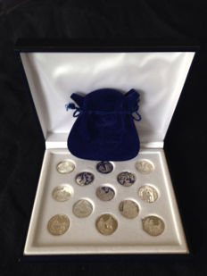 Biblical Marriage Coins made in sterling silver 925, 20 mm diameter.