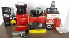 Lot of various items - Pallas BX 5x5 & Paterson slide viewer - Paterson 35mm Developing Tank - Eumig Chemo Splicer
