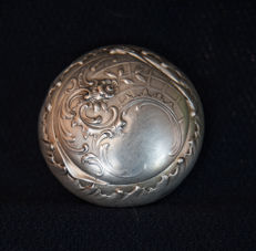 Baroque rococo silver rosary holding box - France or Germany - end of 18th century