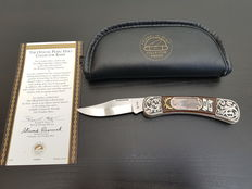 Franklin Mint - legends of The West - Official Pearl Heart Collector Knife - silver plated - approx.  1985, USA