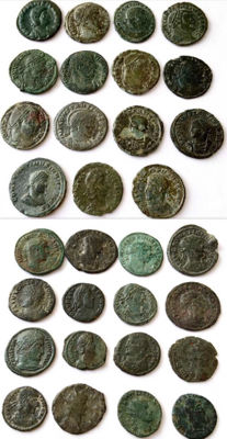 Roman Empire - A collection of 31 Late Roman AE coins