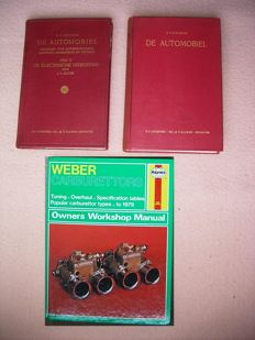 Kluwer / Haynes - Automobile technique - 3 books about Weber Carburettors, Chassis, Body, Electrical equipment (1950/1986)
