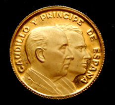 "Spain – 1969 ""Franco y Juan Carlos"" Medal – Gold"
