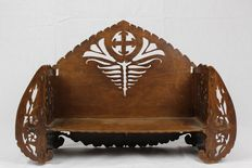 Hand-carved wooden Art Nouveau Bible shelf - the Netherlands - Ca. 1890