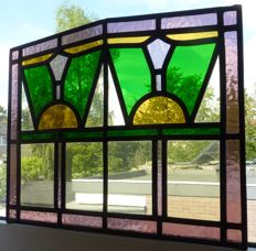 Art Deco leaded window - restored